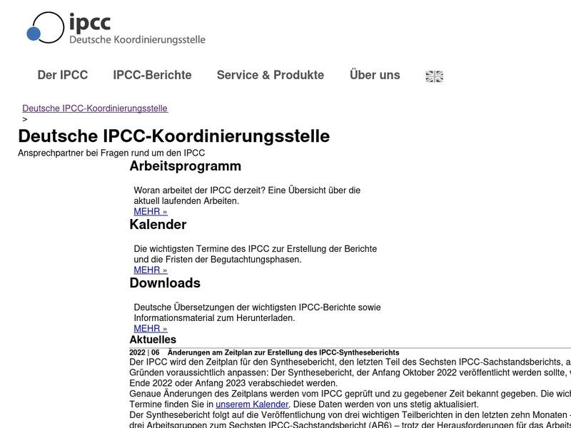 Screenshot von https://www.de-ipcc.de/index.php